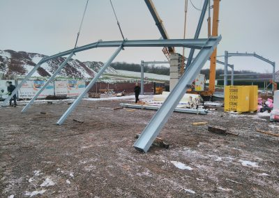 Aufbauarbeiten Stahlbau