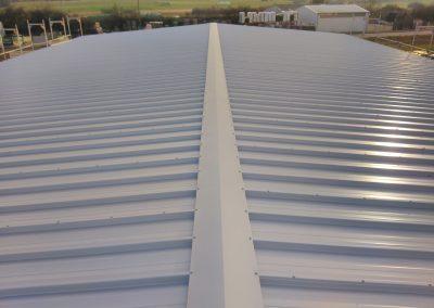 Fertige Dachfläche (First)