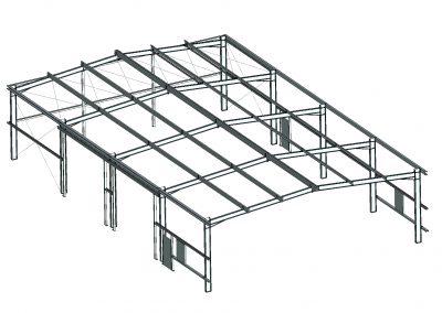 3D-Konstruktion der Halle aus unserem CAD-System