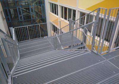 Stahlbau Treppe Christian von Mannlich Gymnasium Homburg